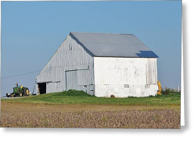 Red Roofed Barn Mixed Media Greeting Cards - Indiana Barn 8 Greeting Card by Nelson Skinner