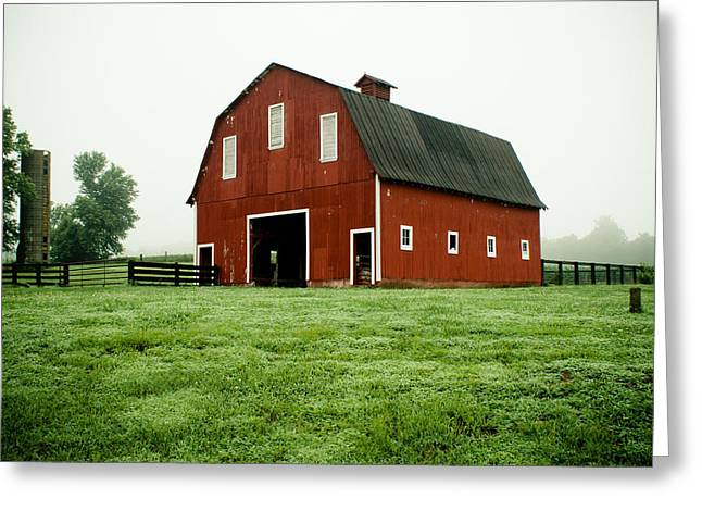 Rural Indiana Greeting Cards - Indiana Barn Greeting Card by Off The Beaten Path Photography - Andrew Alexander