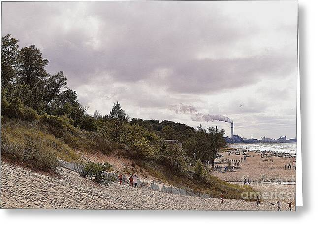 Indiana Dunes Greeting Cards - Indiana Dunes Beach Industry Greeting Card by Amy Lucid