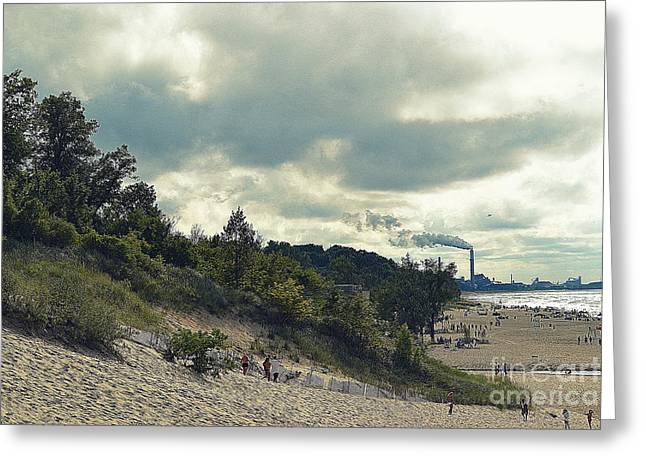 Indiana Dunes Greeting Cards - Indiana Dunes Industry  Greeting Card by Amy Lucid