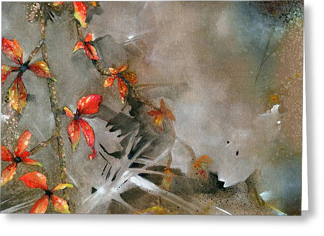 Indiana Fall Greeting Card by John Christopher Bradley