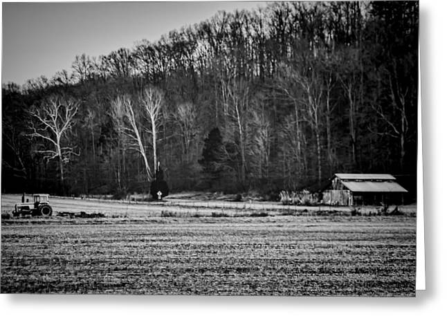 Rural Indiana Photographs Greeting Cards - Indiana Farm Scene Greeting Card by Sven Brogren