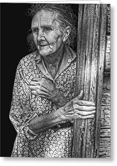 Sharecropper Greeting Cards - Indiana Farm Wife  1935 Greeting Card by Daniel Hagerman