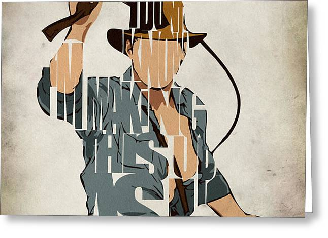 Indiana Jones - Harrison Ford Greeting Card by Ayse Deniz