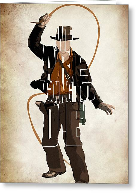 Doomed Greeting Cards - Indiana Jones VOL 2 - Harrison Ford Greeting Card by Ayse Deniz