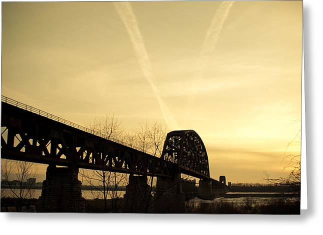 Southern Indiana Greeting Cards - Indiana KY Bridge Greeting Card by Off The Beaten Path Photography - Andrew Alexander