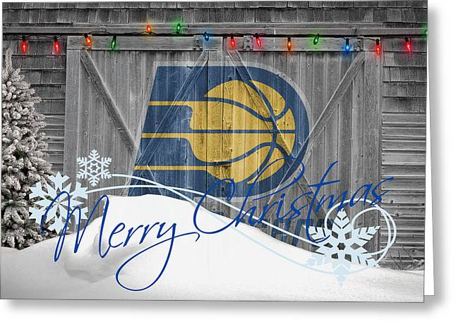 Dunk Photographs Greeting Cards - Indiana Pacers Greeting Card by Joe Hamilton