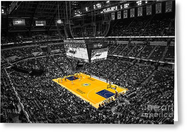 Indiana Pacers Special Greeting Card by David Haskett
