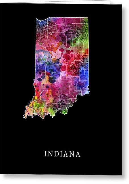 Evansville Digital Greeting Cards - Indiana State Greeting Card by Daniel Hagerman