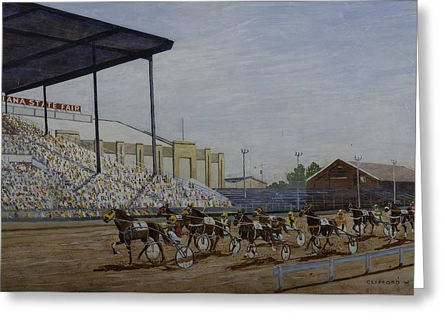 Indiana State Fair Greeting Card by Clifford Cox