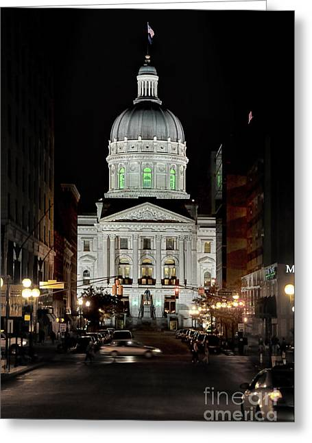 Knicks Greeting Cards - Indiana State House Greeting Card by Bob Stone