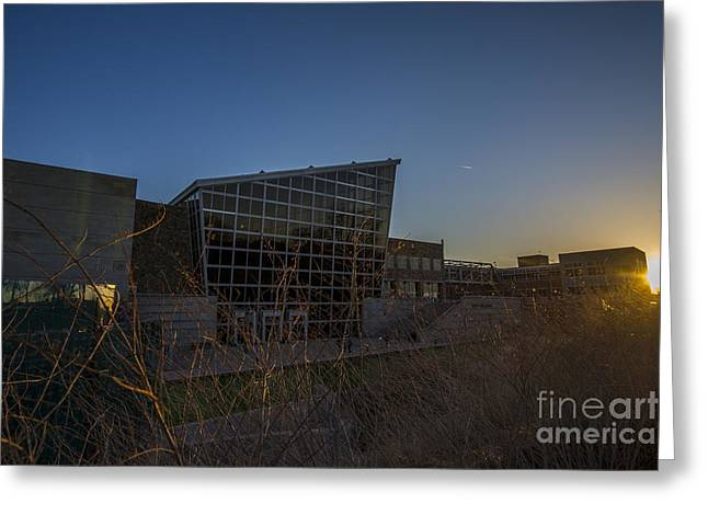 Indiana Art Greeting Cards - Indiana State Museum Sunset 1000 Greeting Card by David Haskett