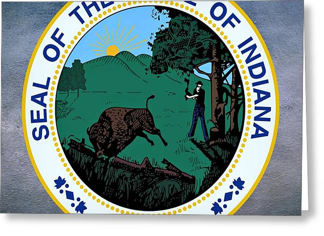Indiana State Seal Greeting Card by Movie Poster Prints