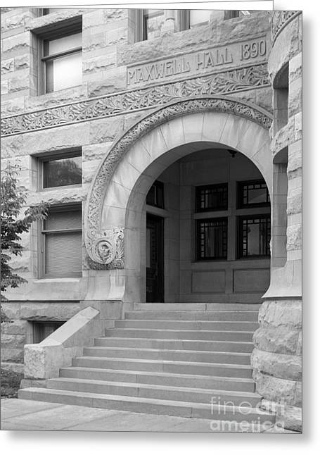 Gi Bill Greeting Cards - Indiana University Maxwell Hall Entrance Greeting Card by University Icons