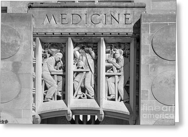 Bloomington Greeting Cards - Indiana University Myers Hall Medicine Greeting Card by University Icons