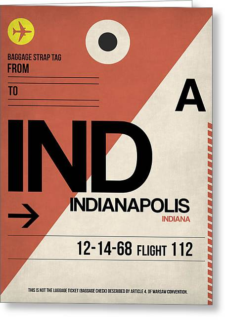 Tourists Greeting Cards - Indianapolis Airport Poster 1 Greeting Card by Naxart Studio