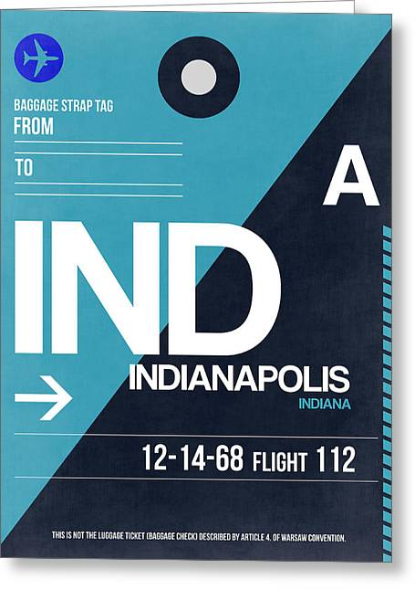 Tourists Greeting Cards - Indianapolis Airport Poster 2 Greeting Card by Naxart Studio