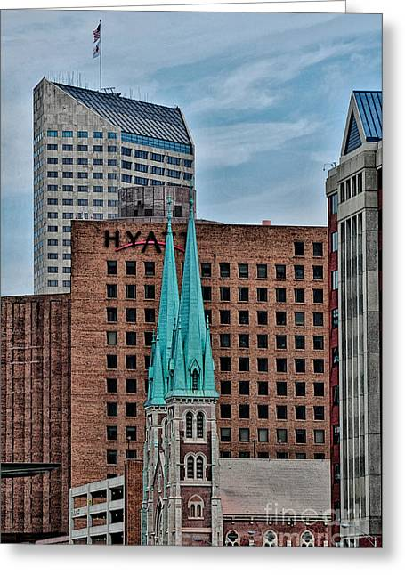 Knicks Greeting Cards - Indianapolis Greeting Card by Bob Stone