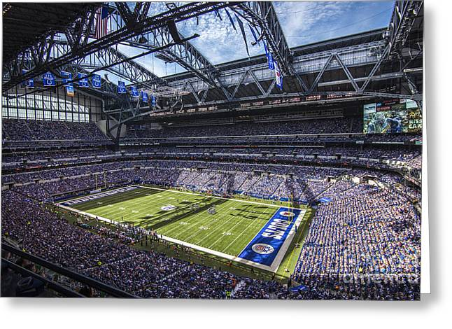 Pro Football Greeting Cards - Indianapolis Colts 3 Greeting Card by David Haskett