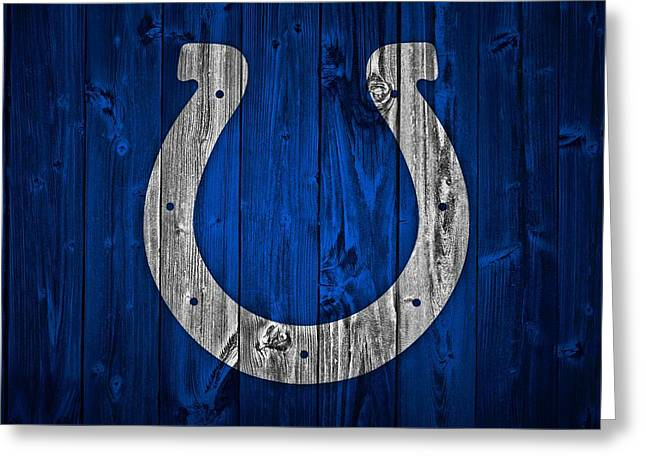 Indianapolis Colts Barn Door Greeting Card by Dan Sproul