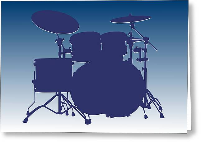 Drum Greeting Cards - Indianapolis Colts Drum Set Greeting Card by Joe Hamilton