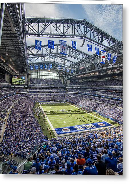 Andrew Luck Greeting Cards - Indianapolis Colts Lucas Oil Stadium 106 Greeting Card by David Haskett