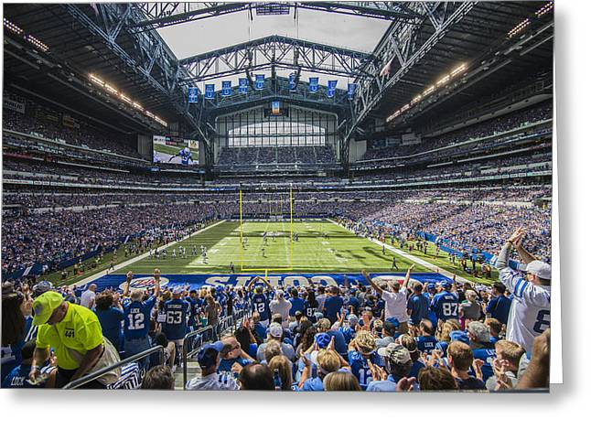 Andrew Luck Greeting Cards - Indianapolis Colts Lucas Oil Stadium 3085 Greeting Card by David Haskett