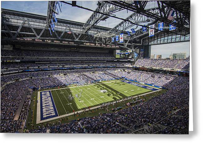 Andrew Luck Greeting Cards - Indianapolis Colts Lucas Oil Stadium 3159 Greeting Card by David Haskett