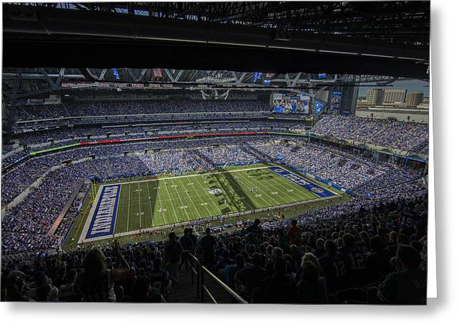 Andrew Luck Greeting Cards - Indianapolis Colts Lucas Oil Stadium 3178 Greeting Card by David Haskett