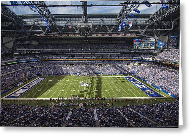 Andrew Luck Greeting Cards - Indianapolis Colts Lucas Oil Stadium 3181 Greeting Card by David Haskett
