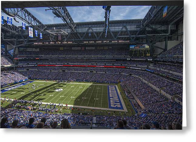 Andrew Luck Greeting Cards - Indianapolis Colts Lucas Oil Stadium 3209 Greeting Card by David Haskett