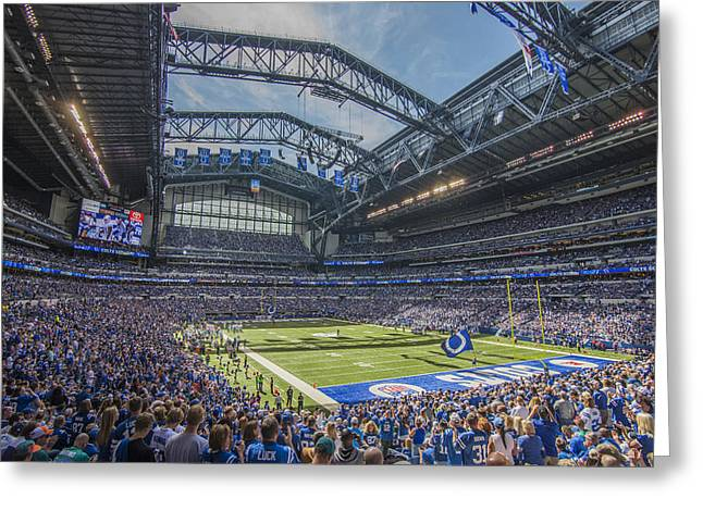 Andrew Luck Greeting Cards - Indianapolis Colts Lucas Oil Stadium 3233 Greeting Card by David Haskett