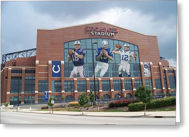 Offense Greeting Cards - Indianapolis Colts Lucas Oil Stadium Greeting Card by Joe Hamilton
