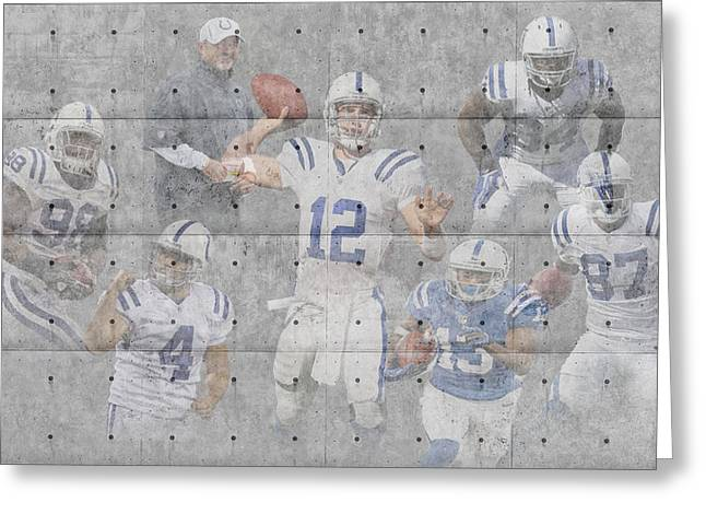 Colts Greeting Cards - Indianapolis Colts Team Greeting Card by Joe Hamilton