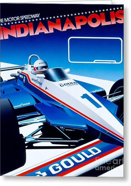 80s Greeting Cards - Indianapolis Greeting Card by Gavin Macloud