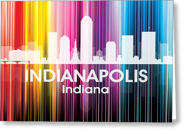 Concrete Jungle Mixed Media Greeting Cards - Indianapolis IN 2 Greeting Card by Angelina Vick