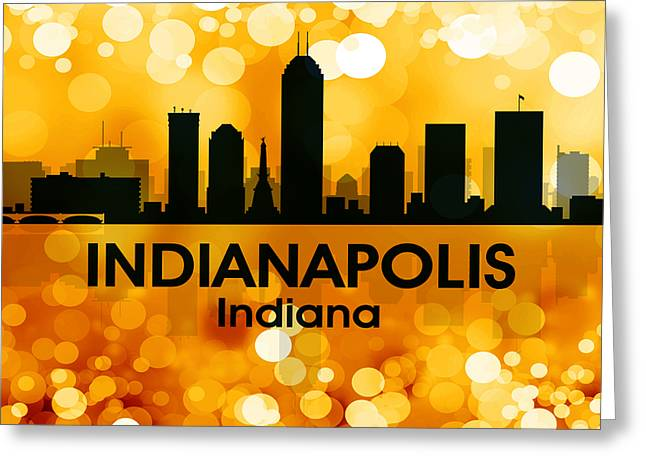 Indiana Landscapes Mixed Media Greeting Cards - Indianapolis IN 3 Greeting Card by Angelina Vick