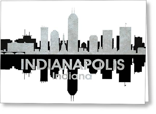 Indiana Landscapes Mixed Media Greeting Cards - Indianapolis IN 4 Greeting Card by Angelina Vick