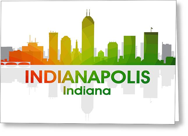 Indiana Landscapes Mixed Media Greeting Cards - Indianapolis IN Greeting Card by Angelina Vick
