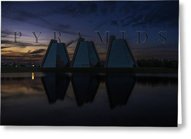 Jw Marriott Greeting Cards - Indianapolis Indiana Pyramids Name Two Greeting Card by David Haskett