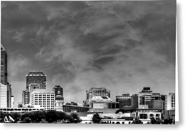 Jw Marriott Greeting Cards - Indianapolis Indiana Skyline 0762 Greeting Card by David Haskett