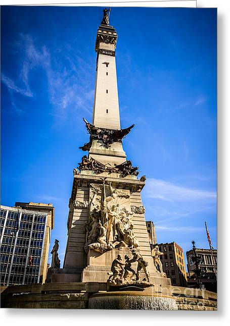 Indianapolis Indiana Soldiers And Sailors Monument Picture Greeting Card by Paul Velgos