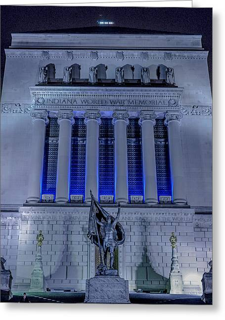 Wwi Greeting Cards - Indianapolis Indiana World War Memorial Greeting Card by David Haskett