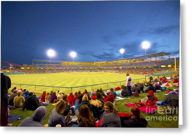 Indy Indians Greeting Cards - Indianapolis Indians Greeting Card by David Haskett
