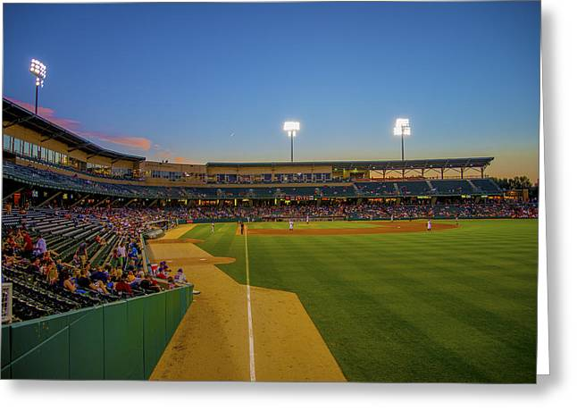 Indy Indians Greeting Cards - Indianapolis Indians Victory Field 4676 Greeting Card by David Haskett