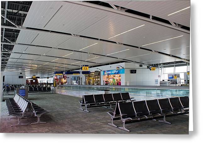Commuter Plane Greeting Cards - Indianapolis International Airport Greeting Card by James Drake