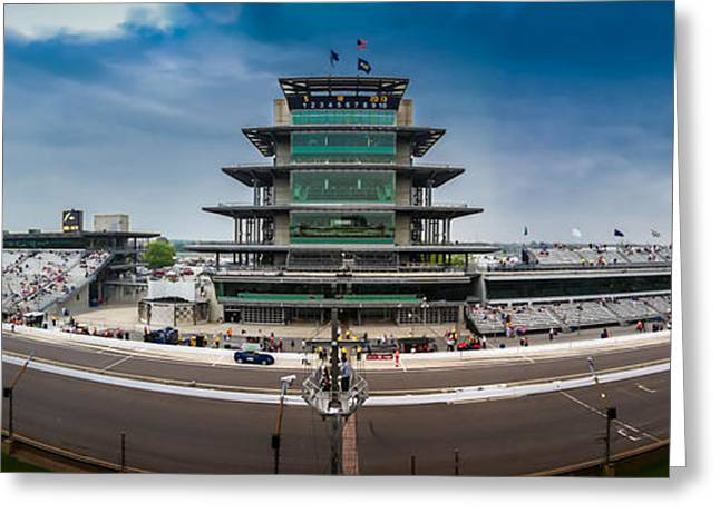 Basketballs Greeting Cards - Indianapolis Motor Speedway Greeting Card by Ron Pate