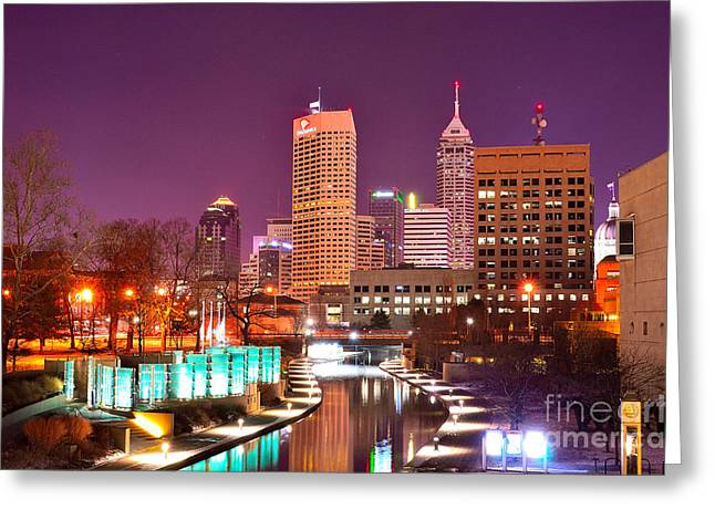 Indianapolis Skyline 200 Greeting Card by David Haskett