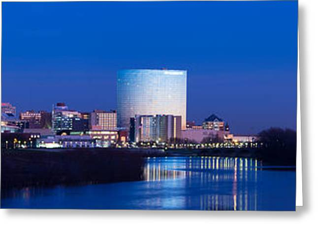 Monuments Greeting Cards - Indianapolis Skyline Greeting Card by Twenty Two North Photography