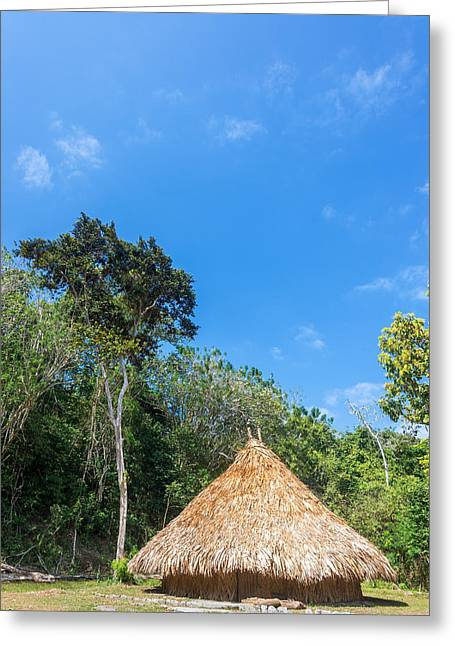 Bamboo House Photographs Greeting Cards - Indigenous Hut Greeting Card by Jess Kraft